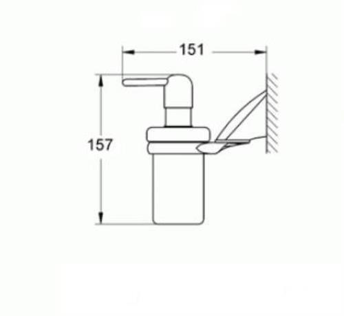 grohe seifenspender chiara 40326 wandmodell. Black Bedroom Furniture Sets. Home Design Ideas