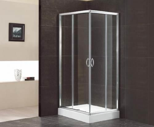 duschkabine mit eckeinstieg und schiebet ren 1000x800x1950 mm. Black Bedroom Furniture Sets. Home Design Ideas