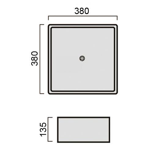 waschtisch stehend rechteckig 380x380x135mm wei. Black Bedroom Furniture Sets. Home Design Ideas