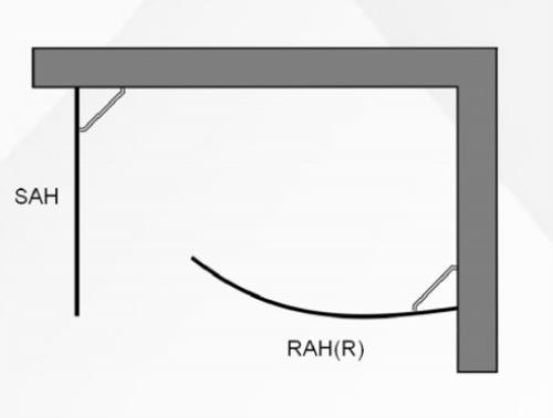 duschwand walk in 2 teilig halbrunde und gerade seitenwand einstieg links. Black Bedroom Furniture Sets. Home Design Ideas