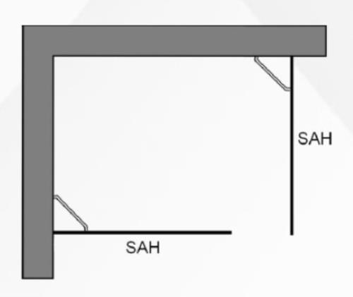 duschwand walk in 2 teilig gerade seitenw nde. Black Bedroom Furniture Sets. Home Design Ideas